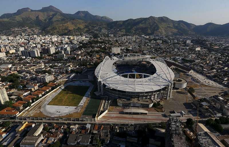 An aerial view shows Rio Olympic Stadium in Rio de Janeiro, Brazil, April 25, 2016. REUTERS/Ricardo Moraes