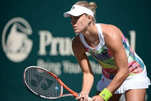 Angelique Kerber in action at the WTA Charleston (image courtesy: Volvo Car Open Twitter)