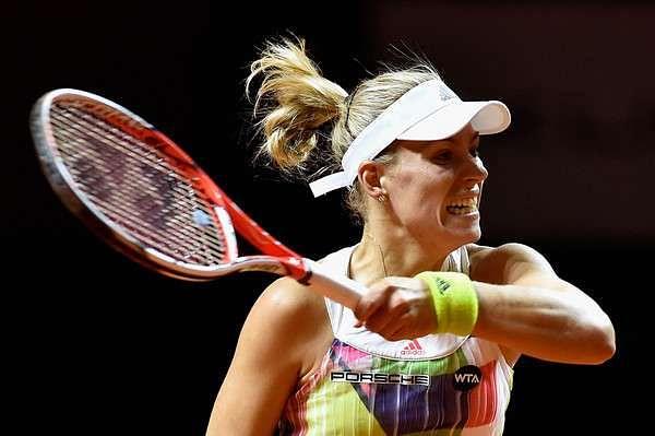 Angelique Kerber in action at Stuttgart on Wednesday