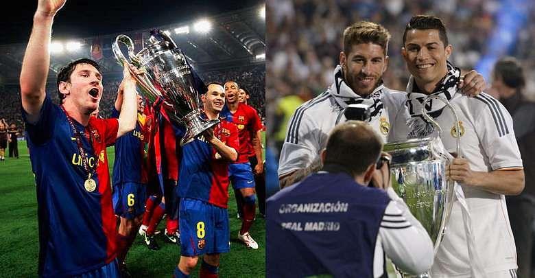 Messi Ronaldo Real Madrid Barcelona Kit Colours Success