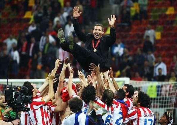 Simeone celebrates