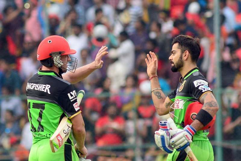 Virat Kohli and AB de Villiers stitched a record partnership of 229 runs against Gujarat Lions in 2016