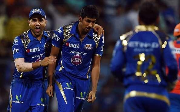 Best batsman and bowler of MI - Rohit Sharma (L) and Jasprit Bumrah (R)