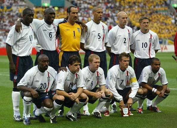 England World cup 2002