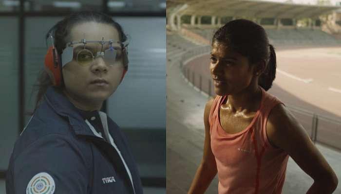 India Olympics Olympian Garv Hai Adani Malaika Goel Sanjeevani Jadhav