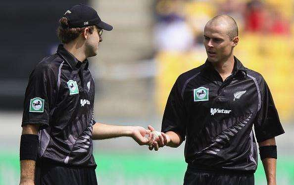 Chris Martin (R) had a pretty successful Test career for New Zealand