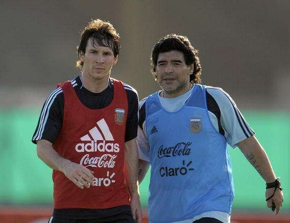 messi and maradona argentina