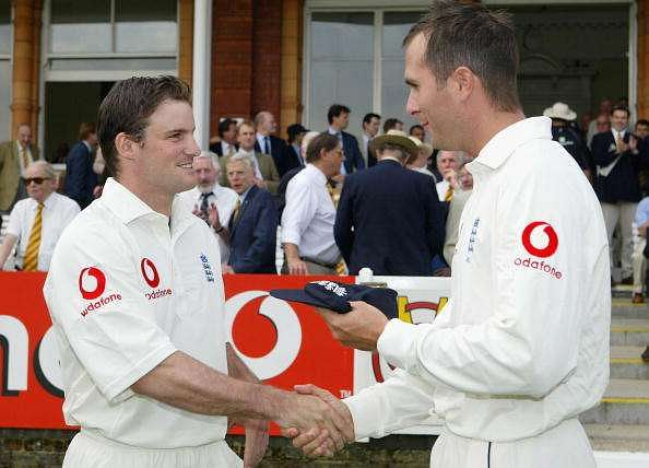 Andrew Strauss replaced Michael Vaughan on his Test debut.