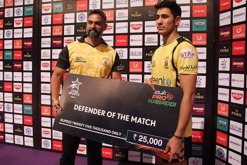 Sandeep Dhull Telugu Titans Pro Kabaddi Star Sports ProKabaddi