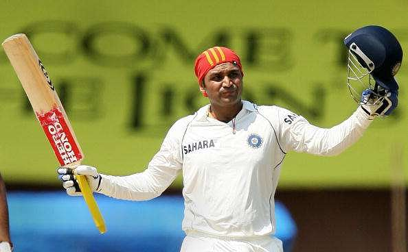 Sehwag was the fir Indian to have scored a triple century in Tests.