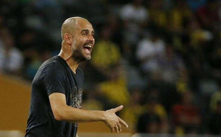Soccer Football - Borussia Dortmund v Manchester City - International Champions Cup - Longgang Stadium, Shenzhen, China - 16/17 - 28/7/16 Manchester City manager Pep Guardiola Action Images via Reuters / Bobby Yip