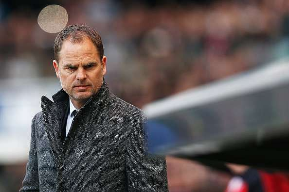 EINDHOVEN, NETHERLANDS - MARCH 20:  Ajax manager / head coach, Frank de Boer looks on prior to the Eredivisie match between PSV Eindhoven and Ajax Amsterdam held at Philips Stadium on March 20, 2016 in Eindhoven, Netherlands.  (Photo by Dean Mouhtaropoulos/Getty Images)