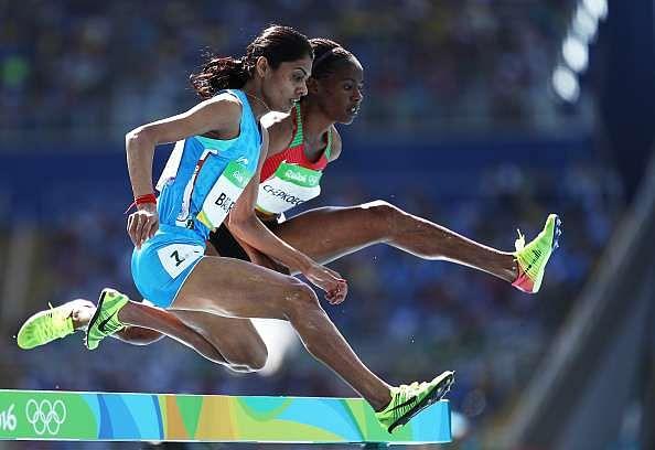 RIO DE JANEIRO, BRAZIL - AUGUST 13:  Lalita Shivaji Babar of India competes in the Women