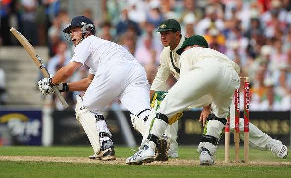Jonathan Trott and Ricky Ponting