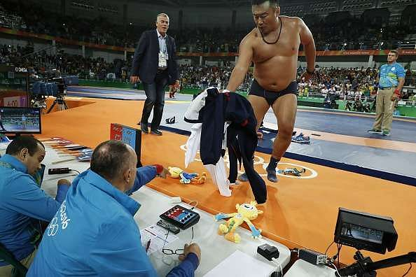 Mongolia wrestling coach protest Rio Olympics 2016