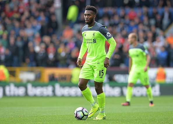 BURNLEY, ENGLAND - AUGUST 20: Daniel Sturridge of Liverpool in action during the Premier League match between Burnley FC and Liverpool FC at Turf Moor on August 20, 2016 in Burnley, England. (Photo by Mark Runnacles/Getty Images)