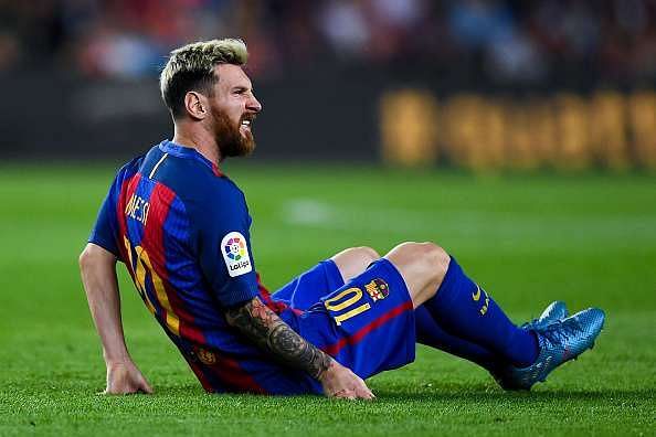 FC Barcelona star Lionel Messi ruled out for 3 weeks with injury