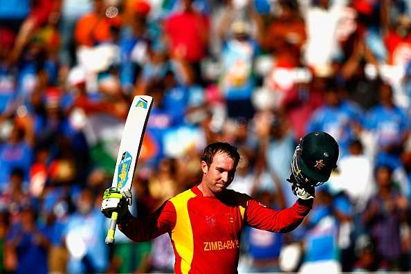 Brendan Taylor after scoring the century in his farewell match