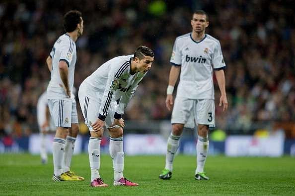 Cristiano Ronaldo exhausted