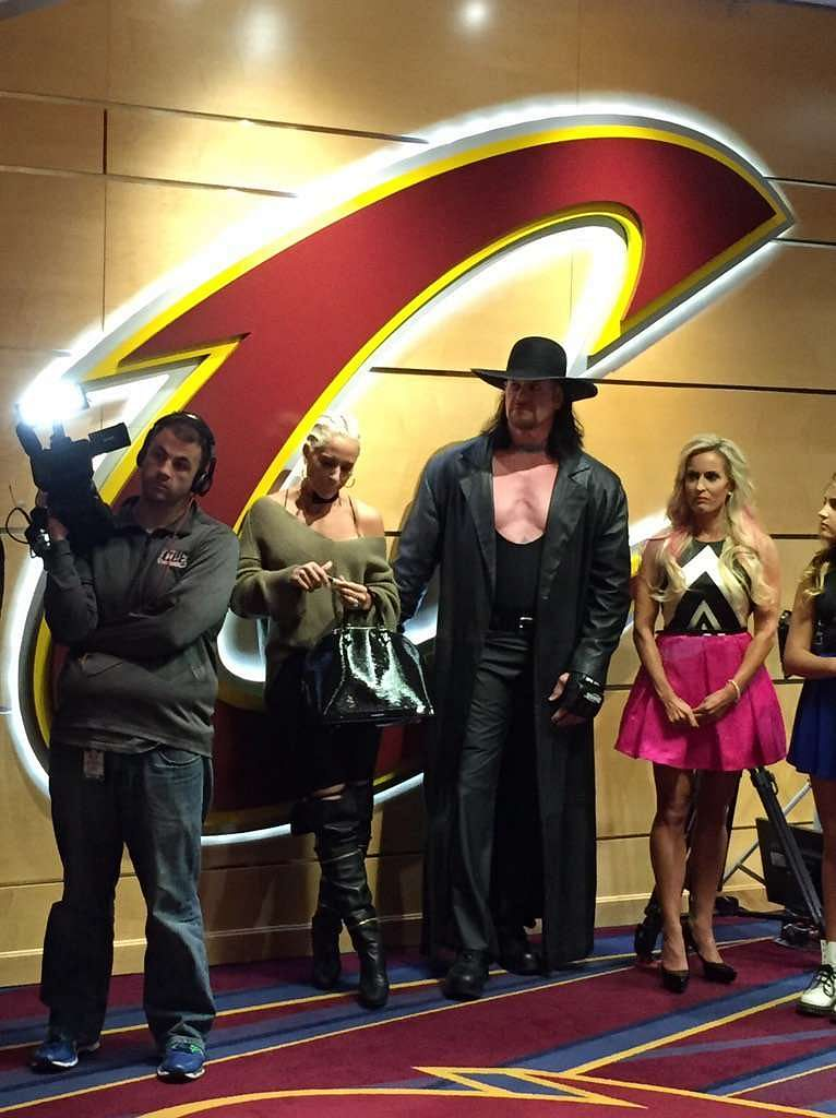 The Undertaker and Dana Warrior at the Cavaliers' opening night celebrations