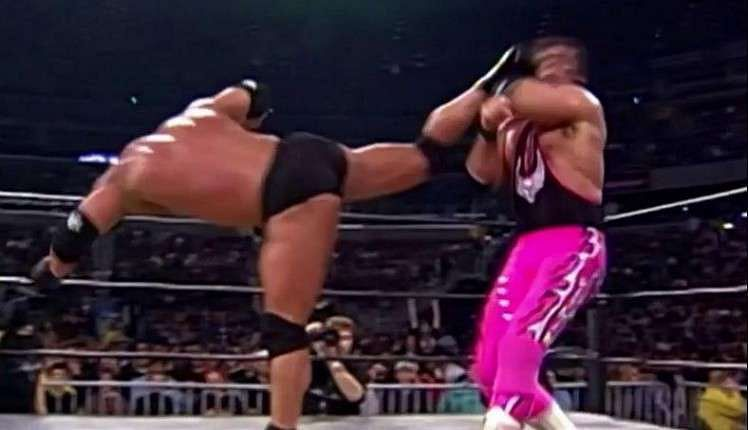The kick that ended Bret Hart