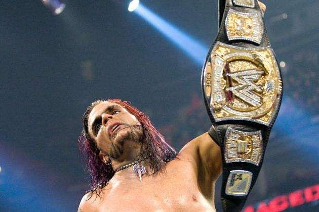 Jeff hardy as the WWE Champion