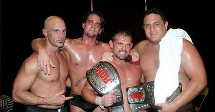 (From left to right) Christopher Daniels, CM Punk, Jamie Noble and Samoa Joe