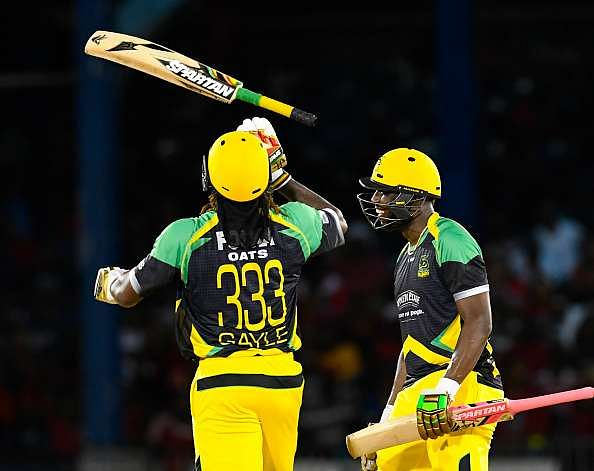 Gayle in action, in the Caribbean Premier League