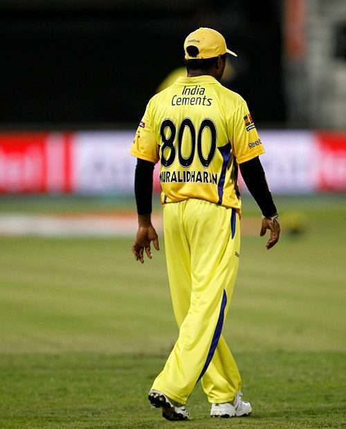Murali in his last IPL match for CSK