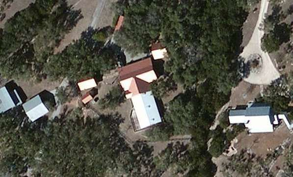 An ariel view of HBK's abode