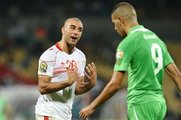 RUSTENBURG, SOUTH AFRICA - JANUARY 22: Abdennour Aymen during the 2013 Orange African Cup of Nations match between Tunisia and Algeria from Royal Bafokeng Stadium on JANUARY 22: 2012 in Rustenburg, South Africa.  (Photo by Lefty Shivambu/Gallo Images/Getty Images)