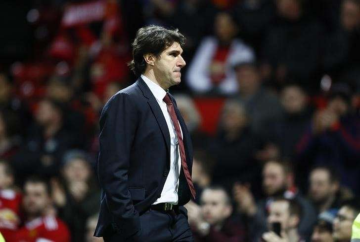 Britain Football Soccer - Manchester United v Middlesbrough - Premier League - Old Trafford - 31/12/16 Middlesbrough manager Aitor Karanka looks dejected after the game Action Images via Reuters / Jason Cairnduff Livepic /File Photo