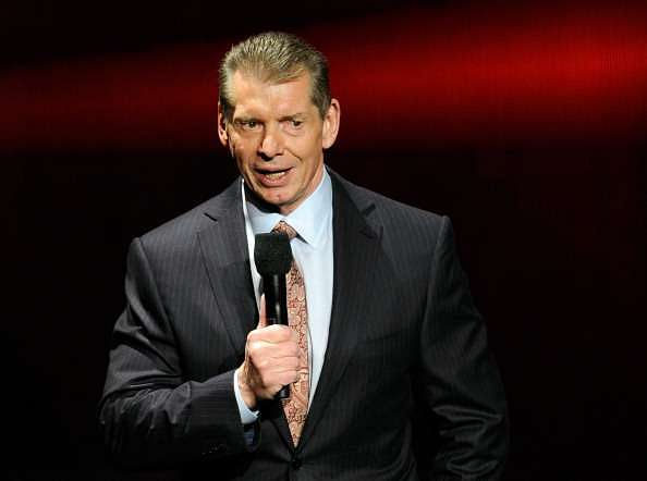 LAS VEGAS, NV - JANUARY 08:  WWE Chairman and CEO Vince McMahon speaks at a news conference announcing the WWE Network at the 2014 International CES at the Encore Theater at Wynn Las Vegas on January 8, 2014 in Las Vegas, Nevada. The network will launch on February 24, 2014 as the first-ever 24/7 streaming network, offering both scheduled programs and video on demand. The USD 9.99 per month subscription will include access to all 12 live WWE pay-per-view events each year. CES, the world