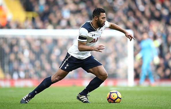 LONDON, ENGLAND - JANUARY 14:  Mousa Dembele of Tottenham Hotspur in action during the Premier League match between Tottenham Hotspur and West Bromwich Albion at White Hart Lane on January 14, 2017 in London, England.  (Photo by Julian Finney/Getty Images)
