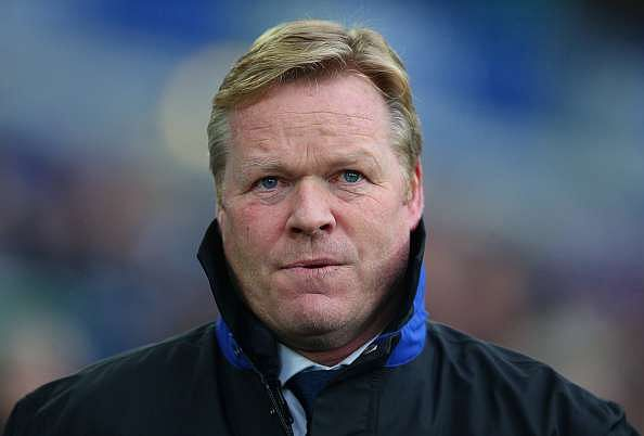 LIVERPOOL, ENGLAND - JANUARY 15:  Ronald Koeman, Manager of Everton  looks on during the Premier League match between Everton and Manchester City at Goodison Park on January 15, 2017 in Liverpool, England.  (Photo by Alex Livesey/Getty Images)