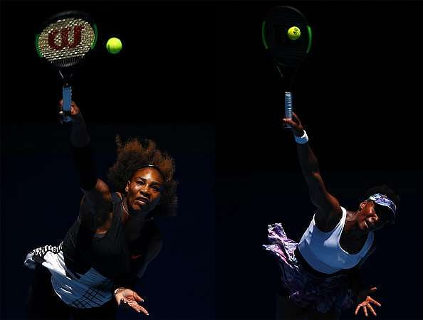 FILE PHOTO (EDITORS NOTE: COMPOSITE OF TWO IMAGES - Image numbers (L) 632625644 and 632340970) In this composite image a comparision has been made between Serena Williams of the United States (L) and Venus Williams of the United States. The Williams sisters play each other in the 2017 Australian Open Women