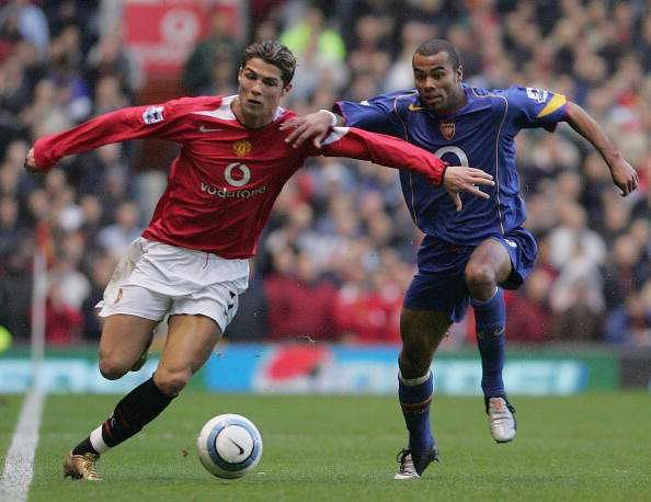 Ashley Cole and Cristiano Ronaldo have met on the pitch several times in the Premier League era