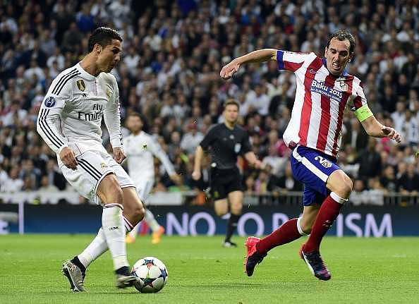 Diego Godin and Cristiano Ronaldo have been involved in several high profile meetings in recent years