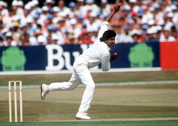 Kapil Dev bowling