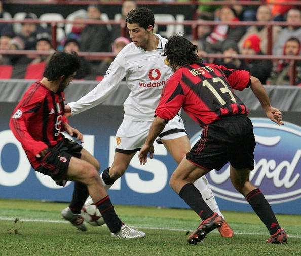 Alessandro Nesta used all his experience to contain Manchester United and Cristiano Ronaldo