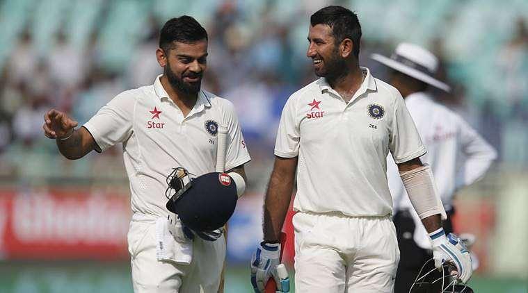Virat Kohli and Cheteshwar Pujara