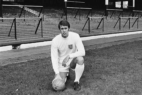 Geoff Hurst wearing the 1970 England