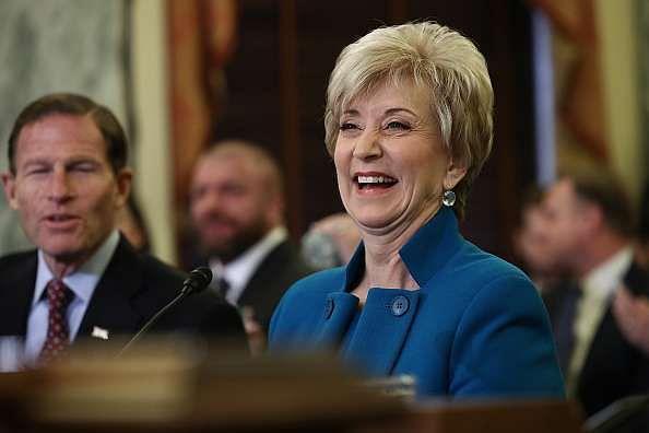 WASHINGTON, DC - JANUARY 24:  Linda McMahon, U.S. President Donald Trump