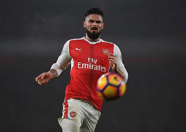 LONDON, ENGLAND - JANUARY 31:  Olivier Giroud of Arsenal during the Premier League match between Arsenal and Watford at Emirates Stadium on January 31, 2017 in London, England.  (Photo by Shaun Botterill/Getty Images)
