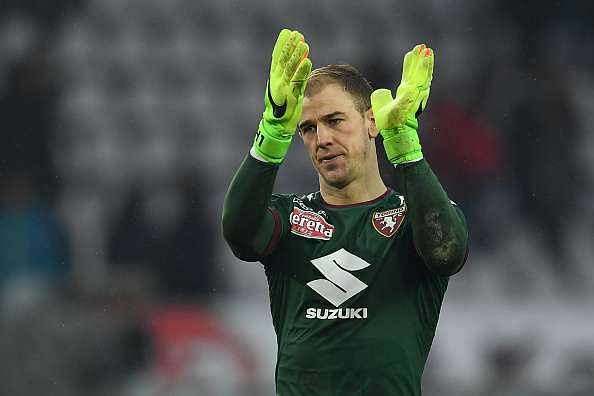 TURIN, ITALY - FEBRUARY 12:  Joe Hart of FC Torino celebrates victory at the end of the Serie A match between FC Torino and Pescara Calcio at Stadio Olimpico di Torino on February 12, 2017 in Turin, Italy.  (Photo by Valerio Pennicino/Getty Images)