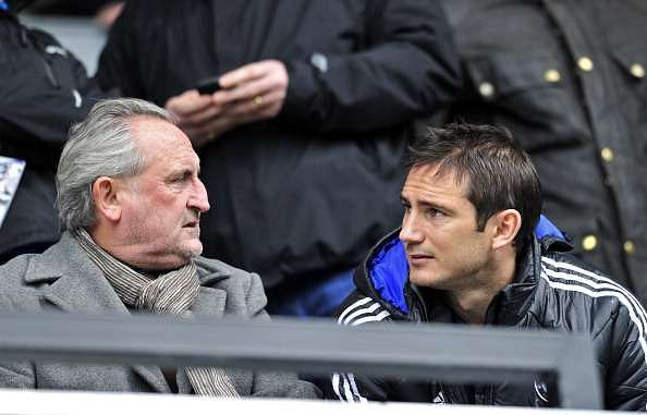 Frank Lampard with his father, Frank Lampard Senior