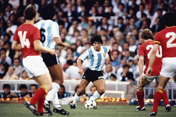 Maradona on the ball