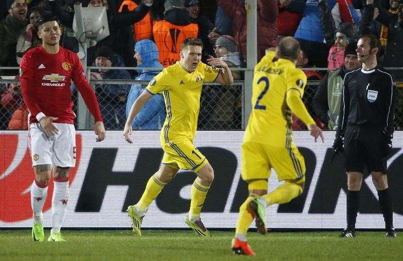 Football Soccer - FC Rostov v Manchester United - Europa League Round of 16 First Leg - Olimp-2 Stadium, Rostov-on-Don, Russia - 9/3/17 FC Rostov