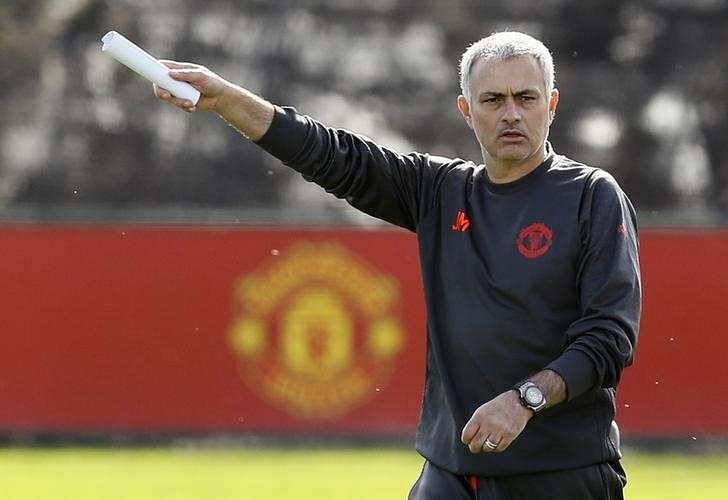 Britain Soccer Football - Manchester United Training - Manchester United Training Ground - 15/3/17 Manchester United manager Jose Mourinho during training Action Images via Reuters / Jason Cairnduff Livepic/Files