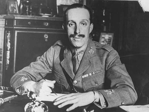 Portrait of King Alfonso XIII of Spain working at his desk, April 14th 1931. (Photo by Keystone/Hulton Archive/Getty Images)